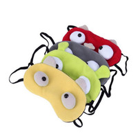4 colors Cartoon Monster 1 Piece Sleeping Eye Mask Nap Shade...