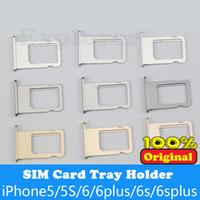 Оригинальный новый для iPhone 4G 4S 5 5C 5S против 6G 6 6S плюс 4.7 5.5 SIM-карты лоток держатель замена