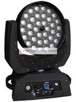 الشحن مجانا جودة عالية 36x10W رباعية اللون RGBW 4 في 1 الصمام غسل مرحلة الإضاءة تتحرك رؤساء