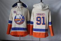 New York Islanders Jerseys Blank # 3 Travis Hamonic # 12 Josh Bailey # 27 Anders Lee # 91 John Tavares 후드 티 스웨터 무료 배송