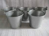 D5. 5*H5CM Metal Pail tin bucket pots Grey Flower Pots for ai...
