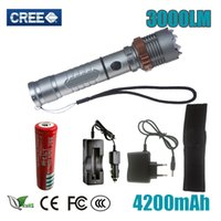 hot sale Self Defense LED flashlight Cree XM- L T6 Rechargeab...