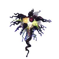 Estilo Chihuly Artesanal de Vidro Soprado Lustre de Arte Moderna de Vidro Murano Fonte LED AC 110 V 220 V Pendurado Cadeia Lustre