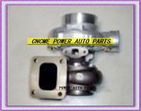 BEST NEW Turbo Turbine مبردة بالزيت الشاحن التربيني T76 T4 التوربينات: A / R .68 شركات: A / R 0.80 800HP-900HP شاحن توربو T4 شفة V-Band
