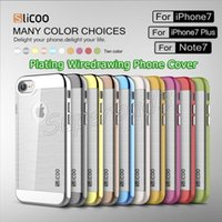 Slicoo Brushed Crystal Transparent TPU + Electroplating PC H...