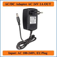 24 V 1A AB Tak AC DC Adaptörü AC 110 V 220 V Dönüştürücü DC 24 V Sunucu Güç Kaynağı Şarj için LED Şerit Işık CCTV için ADSL Kediler