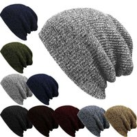 1 X حك الرجال المرأة الفضفاضة قبعة المعتاد الشتاء الدافئ قبعة تزلج مترهل شيك كاب الجمجمة