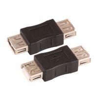 도매 300pcs / lot 미니 USB 2.0 여성 A USB 2.0 여성 B 어댑터 커넥터