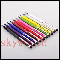 Stylet d'écriture tactile capacitif à écran tactile 2 en 1 et stylo à bille pour tous les Smart CellPhoneTablet
