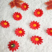 DIY Yapay Çiçek Kafası Noel Dekorasyon Ayçiçeği Ev Küçük Papatya Ipek Çiçekler Chrysanthemum Güneş Parti Süslemeleri Için