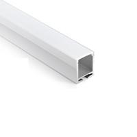 100 X 1M fixe / lot 6000 série a conduit profilé en aluminium de la bande et du type carré conduit alu canal pour les feux de suspension ou de suspensions