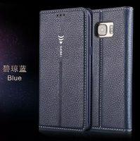 Calidad Gebei Marca para Samsung S7 Funda Flip Funda Cartera de lujo Original Colorido Lindo Funda de cuero delgado para Samsung Galaxy S7 G930 G9300