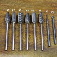 Al por mayor-Pro Silver Electric Durable Tungsten Steel Carbide File Drill Bits para herramientas de Nail Art Equipos de herramientas de manicura DIY # ND078 shi libre