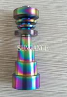 Rainbowl anodizzato 6 IN 1 Chiodi in titanio domeless gr 2 titanio colorato 10/14 / 19mm Maschio Femmina con trattamento nitrito Colore Non svanisce