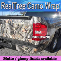 Yeni Realtree Camo Vinil Wrap Ile Araba Wrap Için Styling Film folyo Hava Yayın Mossy meşe gerçek Ağacı Yaprak Kamuflaj Sticker 1.52x10 m / 20 m 30 m