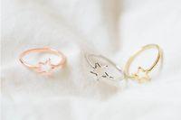 Los anillos de pentagrama de oro y productos de plata se venden como hot cakes personalizados, mujeres clásicas, envío gratis YP06372016 años festival mejor regalo