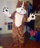 Nuovo stile bulldog costume della mascotte formato adulto cane adorabile costume del fumetto festa in maschera vendita diretta in fabbrica con alta qualità