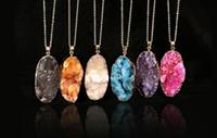 Gioielli Collana enorme irregolari di pietra naturale collane di cristallo Druzy Drusy quarzo Collana per le donne 2016 nuovo arrivo