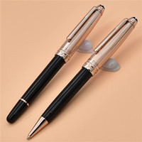 Stylo à bille / stylo à bille en résine de luxe et de haute qualité 163 en métal et en résine noire