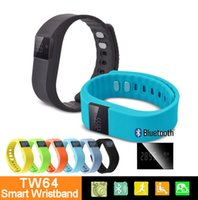 2016 DHL Cheap OLED Screen TW64 Smart Wristband Bluetooth Sp...