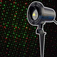 야외 크리스마스 레이저 조명 빨간색 녹색 방수 정적 반딧불 빛 프로젝터 휴일 정원 법 110v elf 조명 프로젝터