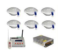 DMX 512 무선 동기 12V RGB LED 수영장 빛 24W PAR56 방수 IP68 수 중 조명 램프 + DMX 컨트롤러 + 전원 어댑터