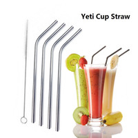 Vacuum Stainless Steel Cup Straw cups brushes set CCar trave...