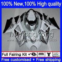 Corps pour SUZUKI Argent blanc GSX-R1000 07 08 GSXR-1000 07-08 89Y4 GSX R1000 GSXR1000 Argenté K7 GSXR 1000 2007 2008 Kit carénages de carrosserie