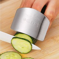O envio gratuito de Cozinha Cozinhar Ferramentas Aço Inoxidável Dedo Protetor de Mão Guarda Design Personalizado Chop Segura Faca Fatia