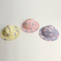 Accesorios para el cabello Sweet Children Sun Cap Polka Dot Summer Outdoor Baby Girl Beach Bucket Hat