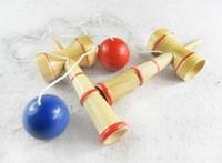 100pcs a buon mercato Giocattolo educativo dei bambini Divertente Bahama Legno tradizionale Gioco abilità Kendama Ball