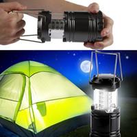Lampada da campeggio a LED all'aperto Lanterna pieghevole da esterno torce di emergenza portatile nero pieghevole per escursioni Camping Halloween Natale