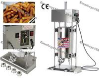 Frete Grátis Uso Comercial Automático 110 v 220 v Elétrica 15L Espanhol Donuts Criador Churrera Churros Enchimento Da Máquina com 5 Bico