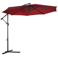 10' Hanging Umbrella Patio Sun Shade Offset Outdoor Mar...