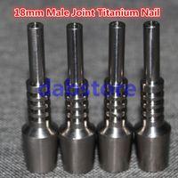 Il doppio chiodo di titanio regolabile di grado 2 doppio misura i giunti maschii di 18mm Domeless Gr2 titre di carb di titanio chiodo della chiocciola e del chiodo del chiodo