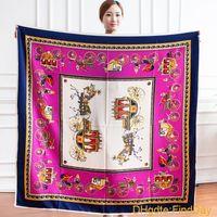 Envío gratis Nuevo Gran chal 130 * 130 CM H bufandas de seda cadena de carro simulación de seda sarga de algodón feminino bufanda de Las Mujeres sin logo