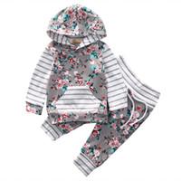 Yüksek Kaliteli Çocuk Giyim Setleri Sonbahar Bebek Hoodie + Pantolon Iki Parçalı Kıyafetler Kız Giyim Setleri Bebek Kız Giysileri Pamuk Yenidoğan Bebek Set