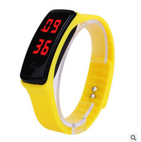 2016 Fashion Sport LED Touch Screen Watch Candy Jelly Silicone Rubber Digital Bracelet Watches Men Women Unisex Sports Wristwatch DHL free