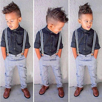 Newest Edition 2pcs Handsome Children Boys Outfits Sets Suit...