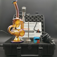 Top-Qualität E Digital Dab Nail Kit trockenes ätherisches Kräuteröl Verdampfer Kit mit Farbe Beschichtung Dab Rigs Öl Bohrinsel Bong