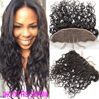 Mongolian Water Wave Human Hair Lace Frontal Closure 13x4 Wi...
