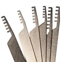 Yüksek kalite için ucuz 6 adet Seçtikleri Asma Kilit tarak Kilit seçim seti ev çilingir aracı paslanmaz çelik