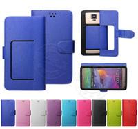 Funda de cuero con tapa universal para billetera Litch PU con ranuras para tarjetas de crédito Para caja de 3,5 a 6,0 pulgadas con 6 celdas para teléfono móvil