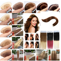 11 Color optional 7A Tape In Peruvian Human Hair Extensions ...