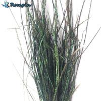 Rompin natürlicher Pfau Herl Feder Drahtbindematerial Olivgrün-Fliegen-Fischen-Köder-Köder Nymphen Streamer Fliegen-Zubehör