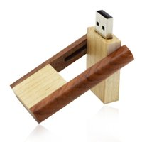 HanDisk Wooden Square Corner Rotatable USB Flash Drive 1GB 2...