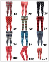 2017 Classic plaid Sexy leggings Christmas leggings Printed ...