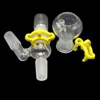 Verre Adaptateur Downstem Pour l'huile Rigs Bongs 14mm 18mm Reclaim Catcher Ash Homme Femme Joint verre adaptateurs avec Keck clip Accessoires fumeurs