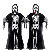 2017 New Hot Halloween Cosplay Skeleton Unisex Suit Human Sk...
