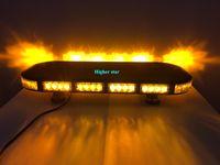 Высокая интенсивность 70см 56W Светодиодная мини-сигнальная лампа автомобиля, аварийный световой индикатор для пожарной полиции, 15 вспышек, водонепроницаемый IP67